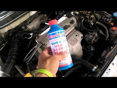 HOW TO FIX HEAD GASKET  BLUE DEVIL HEAD GASKET REPAIR