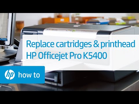 Replacing Cartridges and the Printhead - HP Officejet Pro K5400 Printer