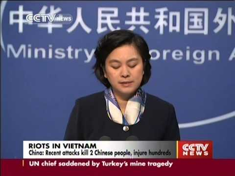 China seeks strict punishment for Vietnam rioters