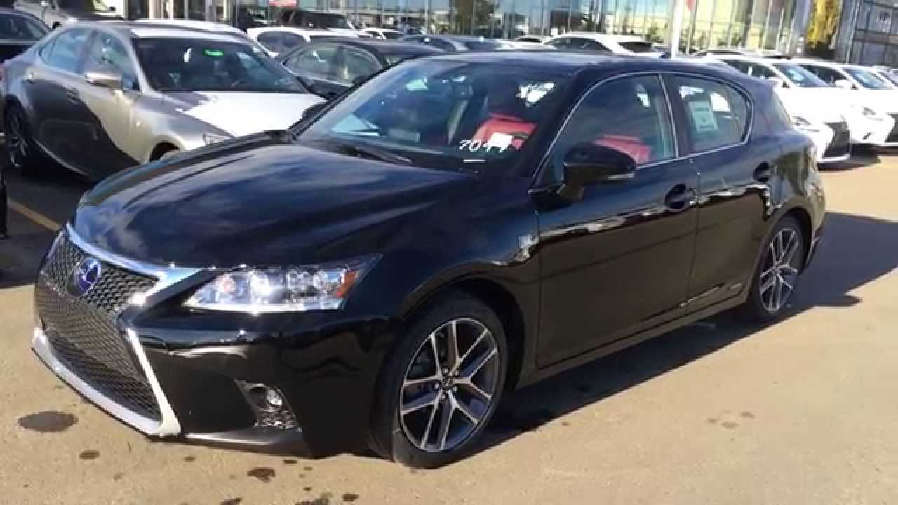 New Black on Rioja Red 2015 Lexus CT 200h Hybrid F Sport ...