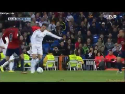 Real Madrid 4 - 0 Osasuna goles-resumen (26-4-14).