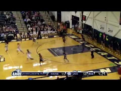 Unh womens basketball highlights vs maine 022212