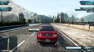 Need for Speed Most Wanted 2  PC gameplay on GT 540M [HD]