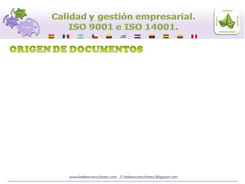 Documentos de un sistema de calidad ISO 9001