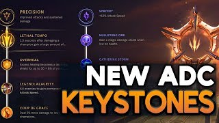 THE NEW ADC KEYSTONES! ADC Runes/Masteries for Season 8 (League of Legends)