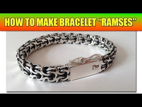 How to make soldered chain Ramses - video tutorial | Phiton - Bismark Cardinal chainmaille