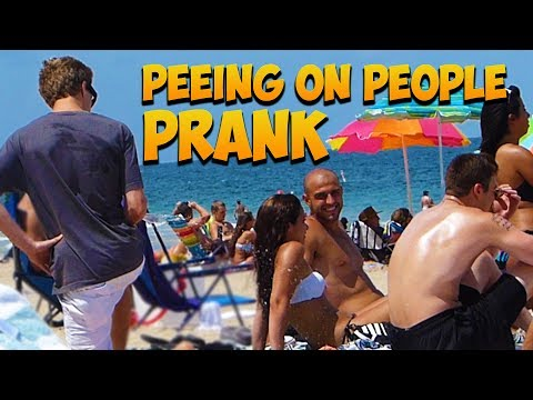 Peeing On People Prank Gone Wrong - Pee Prank - Pissing On People - Beach Pranks - Prank pranks video