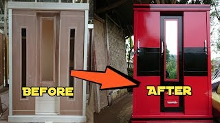 Cara membuat lemari pakaian 3 pintu sliding