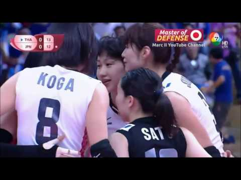 "Japan - ""Master of Defense Part 1"" - Longest Rally in 2015 FIVB WGP Pool A [720p]"