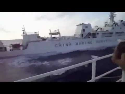 Tàu hải quân việt nam đâm chìm tàu hải giám trung quốc - YouTube