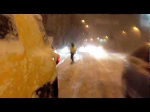 Киев снежный - авто и сноуборд
