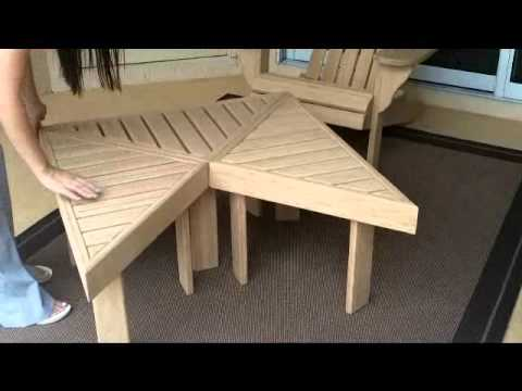 Bamboo Adirondack Chair & Tables