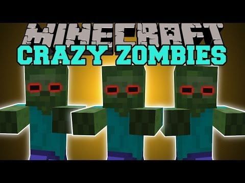 Minecraft: CRAZY ZOMBIES AND SKELETONS (YOU CAN NOT HIDE!) Mod Showcase