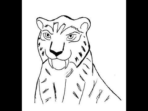 Видео как нарисовать тигрицу