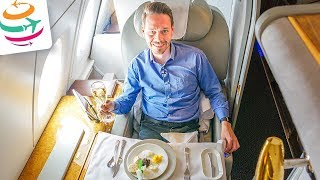 Emirates First Class 14 Stunden A380 Tripreport | GlobalTraveler.TV