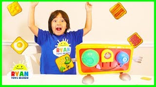 Ryan plays Crazy Toasters Game with Kinder Surprise Egg for Winner!
