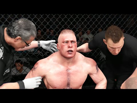 EA UFC (PS4): Brock Lesnar vs Daniel Cormier Heavyweight Full Match New Update!