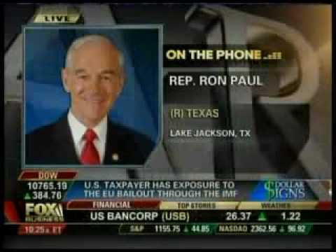Dr. Ron Paul on Fox Business ~ A Trillion Dollar Bailout for Greece