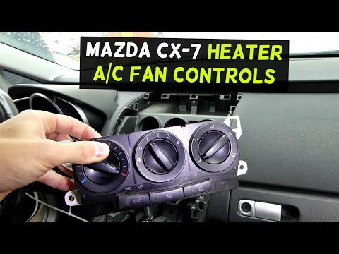 MAZDA CX-7 HVAC HEATER CONTROLS A/C CONTROLS REPLACEMENT REMOVAL CX7