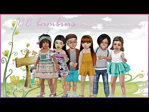 SIMS 4  PLENTY OF CC FOR YOUR TODDLERS ( CLOTHES/HAIR/ACC)