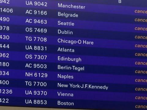 Raw: Lufthansa Cancels Flights Amid Strike