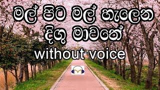 Mal Pita Mal Karaoke (without voice) මල් පිට මල් හැලෙන දිගු මාවතේ