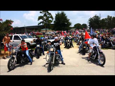 Confederate flag Florida Southern Pride Ride rally