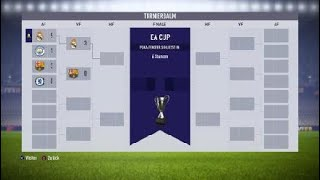 FIFA 18  POKAL EA CUP  20.06.2019  REAL MADRID - BARCELONA     0:0  /  3:0 Abbruch vom gegner