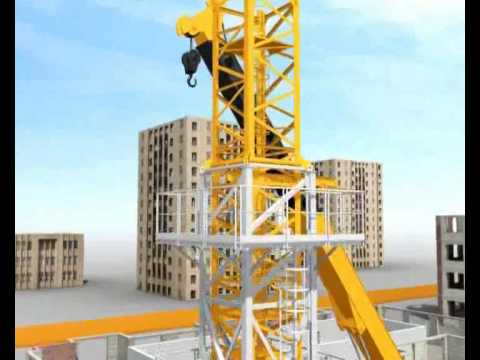 Tower Crane Assembly With Climber Demo Youtube
