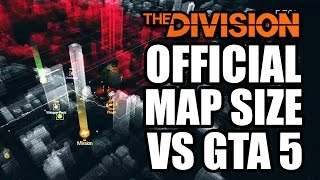 Tom Clancy's The Division News: Official Map Size vs GTA 5 and DLC Expanding the Map