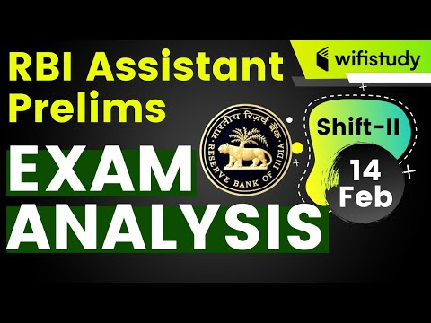 RBI Assistant 2020 Pre (14 Feb, 2nd Shift) | Exam Analysis & Asked Questions