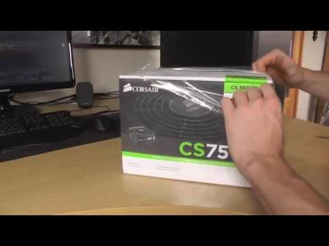 Corsair CS750M 750W Power Supply - Unboxing Video and Review [HD]
