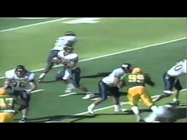 Oregon CB LaMont Woods intercepts a pass vs. Nevada 9-07-1996