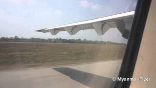 Air Bagan ATR 72-500 W9 607 Startup and takeoff out of Yangon International Airport