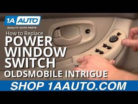 How To Install Replace Power Window Switch Oldsmobile Intrigue 98-02 1AAuto.com