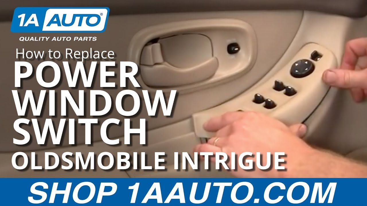 how to install replace power window switch oldsmobile intrigue 98 02 1aauto