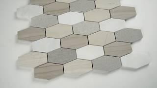 Aria Interlocking 8mm Glass Wall Tile - 101415430