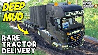 DELIVERING A RARE TRACTOR IN THE MUD | Farming Simulator 19
