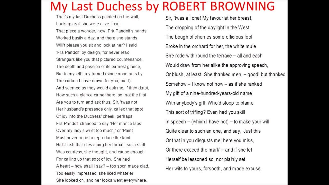 duchess essay last