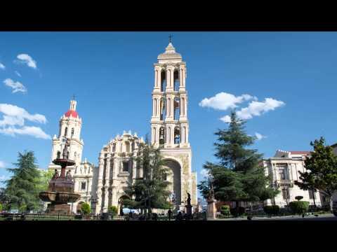 catedral de santiago pequeño time lapse  Saltillo Coahuila