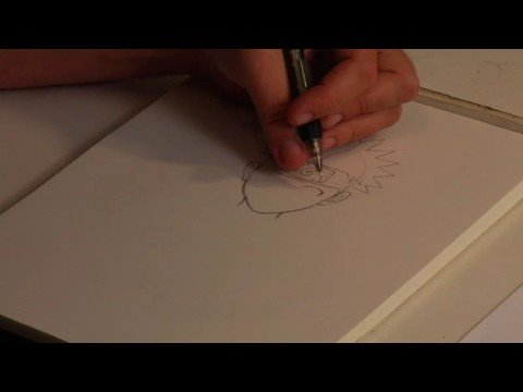 Drawing Popular Cartoon Characters : How To Draw Naruto video