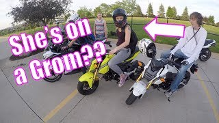 Is That Olivia On A Grom?! | Pulled Over By Cops | Nick Looped My Bike