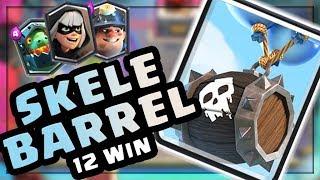 INSANE 12 WIN DECK!! Skeleton Barrel Stream Highlights #6  — Clash Royale