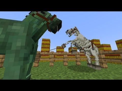 MineCraft 1.6 SnapShot: Zombie Horse Armor. Skeleton Horse 13w21a!