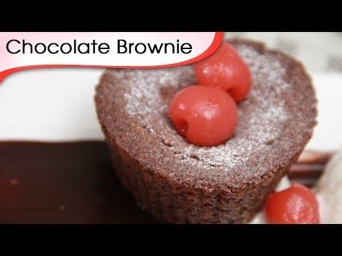 Eggless Chocolate Brownie - Vegetarian Chocolate Dessert Recipe By Ruchi Bharani [HD]