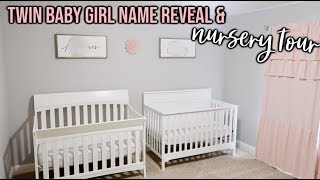 *EXCITING* TWIN BABY GIRL NAME REVEAL & NURSERY TOUR! | BEATING INFERTILITY & MEETING OUR BABIES