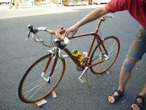 Japanese Mahogany Bicycle From SANO MAGIC