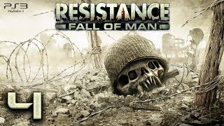 Resistance: Fall of Man (PS3) - 720p60 HD Playthrough Episode 4 - Nottingham