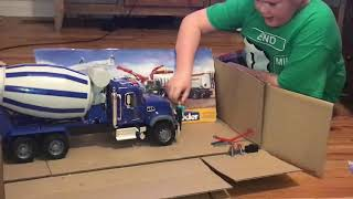 Bruder Cement Mixer Truck show and play with J-Fox