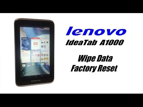 lenovo IdeaTab A1000 - Wipe Data. Password. Screen Lock Reset. Unfreeze. Factory Hard Reset.